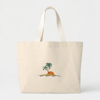 Beach Scene Jumbo Tote Bag