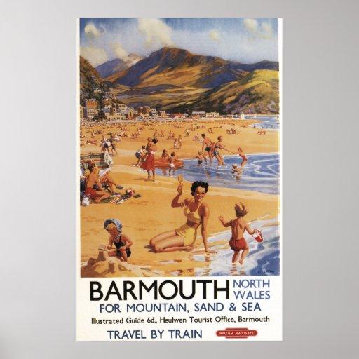 Beach Scene Mother and Kids British Rail Posters