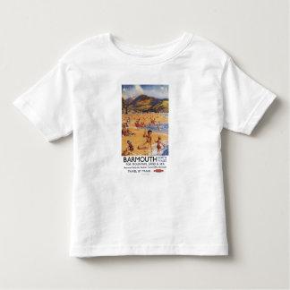 Beach Scene Mother and Kids British Rail Tee Shirt