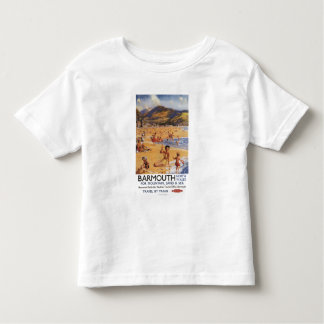 Beach Scene Mother and Kids British Rail Toddler T-Shirt