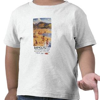 Beach Scene Mother and Kids British Rail Tshirts