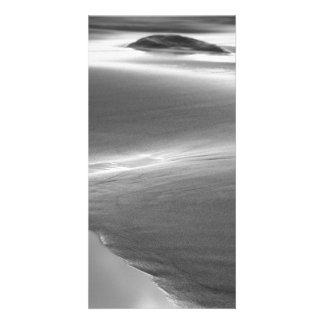 Beach scene personalised photo card