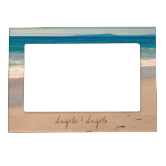 Beach Scene Personalized for Couple Magnetic Picture Frame