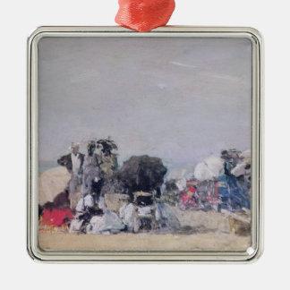Beach Scene, Trouville, 1873 Christmas Ornament