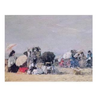 Beach Scene, Trouville, 1873 Postcard