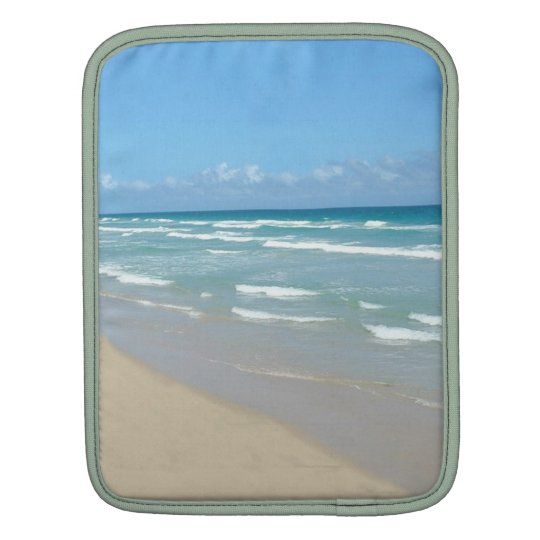 Beach Scene - White Sand and Beautiful Ocean iPad Sleeve