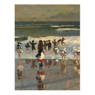 Beach Scene - Winslow Homer Postcard
