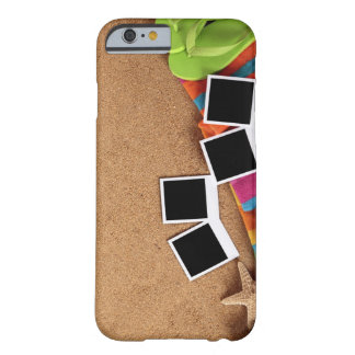 Beach scene with blank , towel, barely there iPhone 6 case