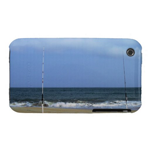 Beach Scene With Fishing Poles Case-Mate iPhone 3 Cases