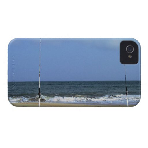 Beach Scene With Fishing Poles Case-Mate iPhone 4 Cases