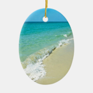 Beach scenery christmas ornament
