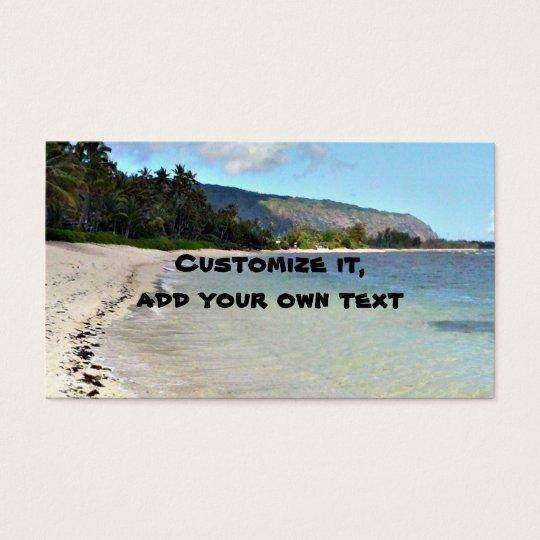 Beach scenes business card
