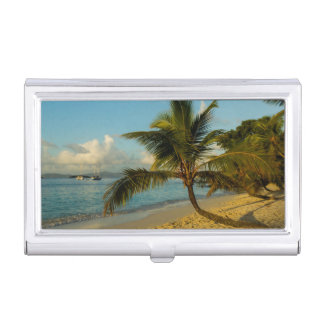 Beach scenic business card holder