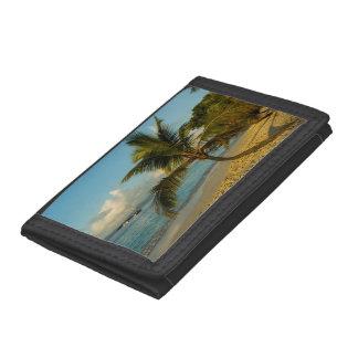 Beach scenic tri-fold wallets