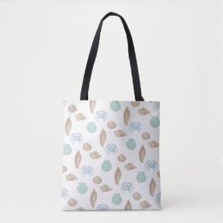 Beach Sea Life Pattern Tote Bag