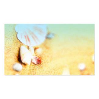 beach sea shell custom business card double sided