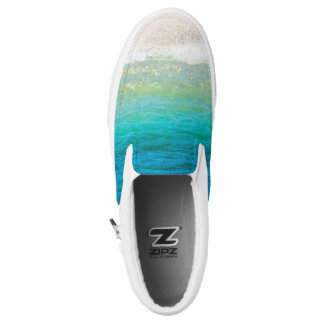 Beach Sea Shore Sand Ocean Slip On Sneakers