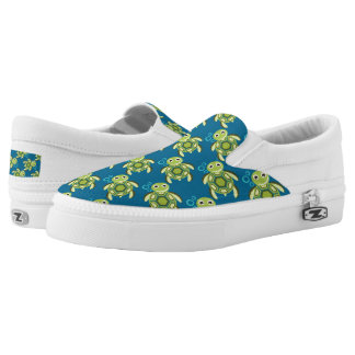 Beach sea turtle pattern slip on shoe printed shoes