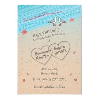 Beach seagull Save the Date ESPECIALLY for BRONWYN 13 Cm X 18 Cm Invitation Card