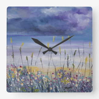 Beach seascape nautical clock