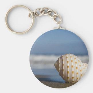 Beach Seashell Key Chain