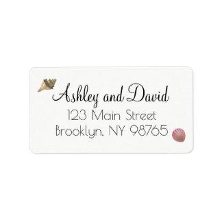 Beach Seashell Mailing Address Label
