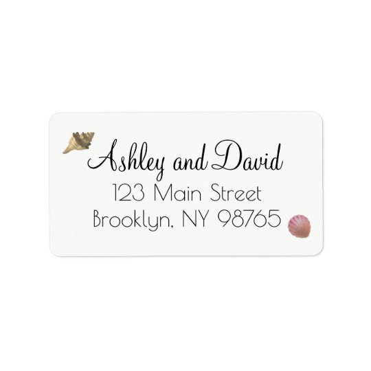 Beach Seashell Mailing Address Label