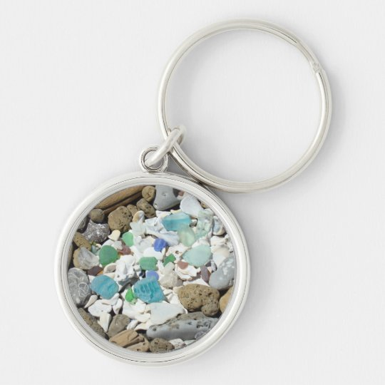 Beach Seashell Sea Glass Driftwood keychains