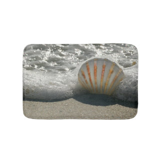 Beach Seashell Theme Bath Mat