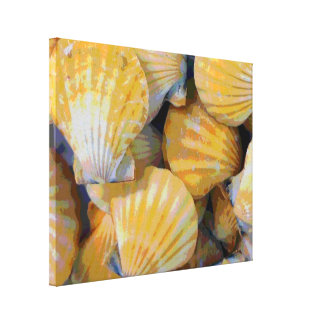 Beach Seashells Art Canvas Print