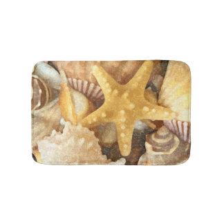 Beach Seashells Theme Bath Mat