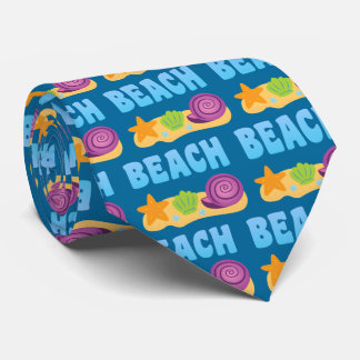 Beach Seashells Tie