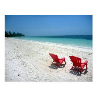 beach seats postcard