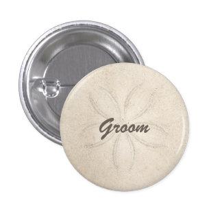 Beach Serenity Groom Button Button