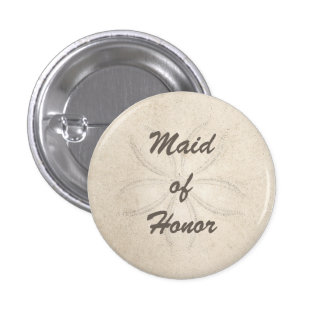 Beach Serenity Maid of Honor Button Pins