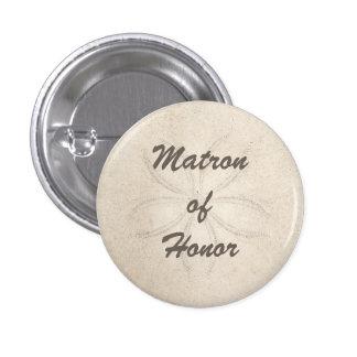 Beach Serenity Matron of Honor Button Pinback Button