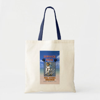 Beach Service Dog Tote Bags