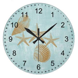 Shell Wall Clocks Zazzle Co Uk
