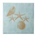 Beach shells tiles