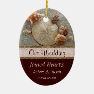 Beach Shells Wedding Favor Ceramic Oval Decoration