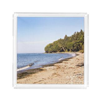 Beach Shore Line Landscape Serving Tray