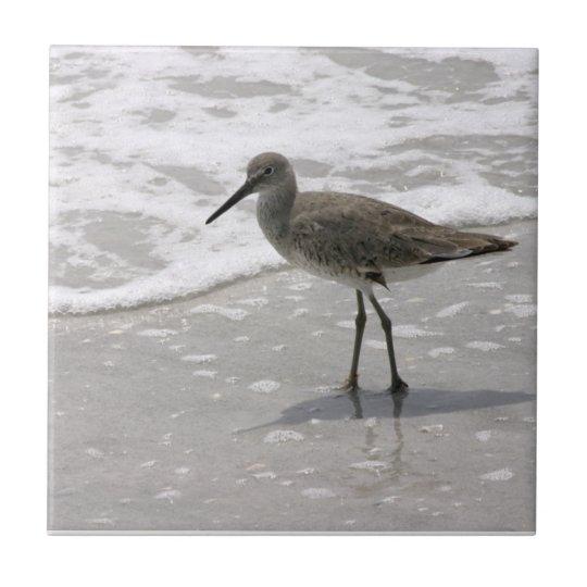 Beach Shorebirds Ceramic Tile Trivet