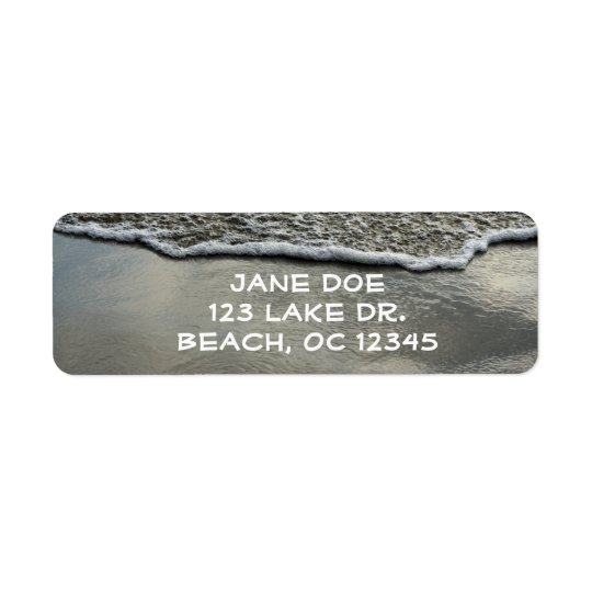 Beach Shoreline Return Label