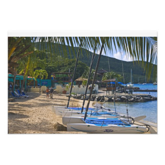 Beach side at Leverick Bay Resort & Marina, Photo Print