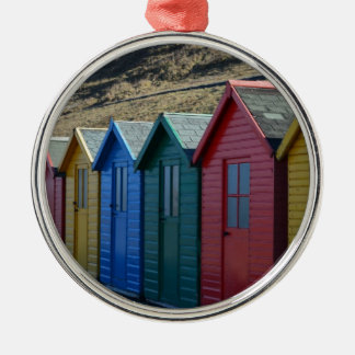 Beach side memories Silver-Colored round decoration
