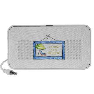 Beach Sign iPod Speaker