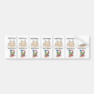 Beach Sippy Cup Labels Bumper Stickers