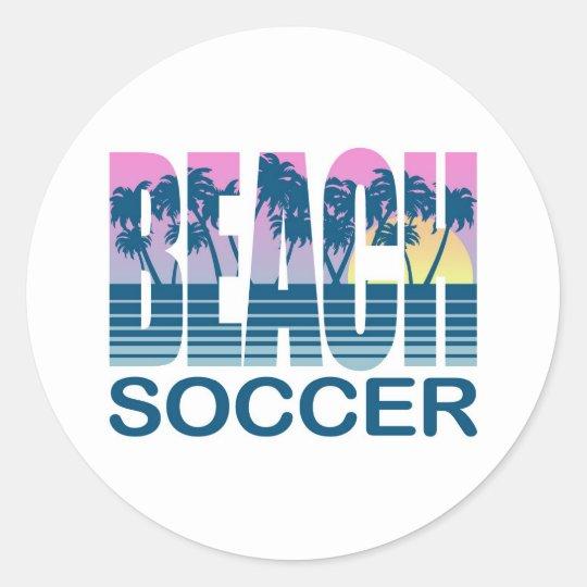 Beach Soccer Classic Round Sticker