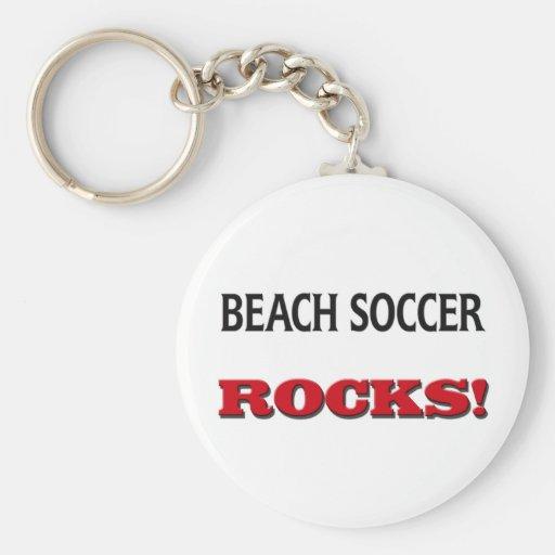 Beach Soccer Rocks Key Chains