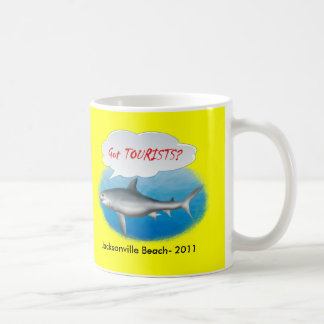 "Beach Souvenir ""Got TOURISTS"" shirts Basic White Mug"